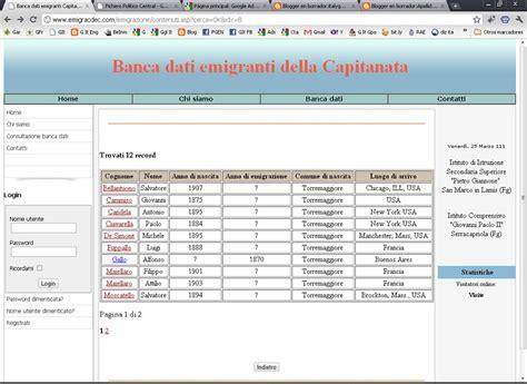 base de datos emigrantes italianos base de datos de inmigrantes de la provincia de foggia