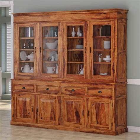 cariboo contemporary  tall rustic solid wood large