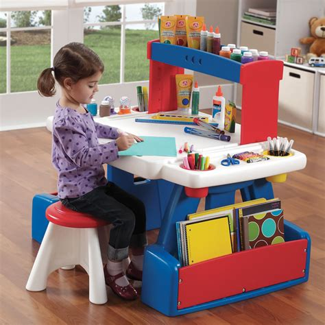 art desk with storage kids creative projects kids art desk step2