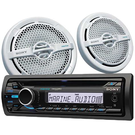 boat stereo west marine sony cdx m20 stereo speaker package west marine