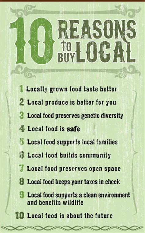7 Reasons To Buy Local by Top 10 Reasons Why Consumers Should Buy Produce Locally