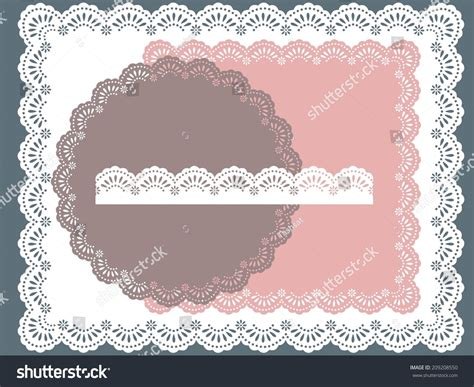 Set Square Lace Cc set of square lace frames stock vector illustration