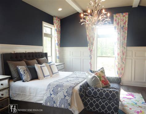 navy white bedroom 2015 bia parade of homes