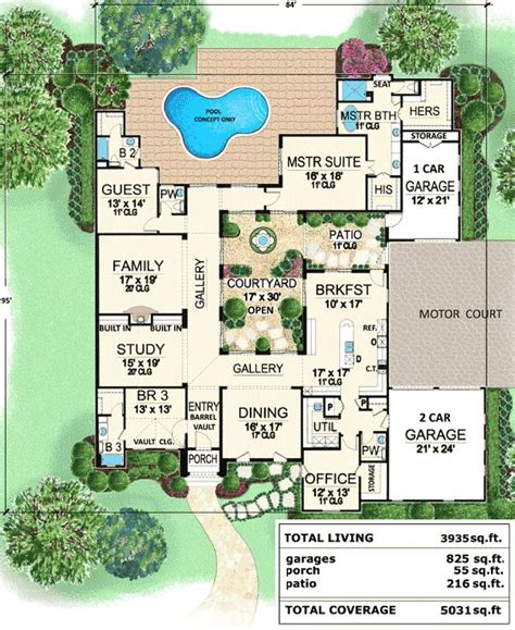 luxury plans best 25 courtyard house plans ideas on house