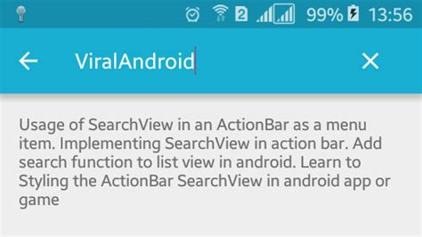 search bar for android implementing searchview in android actionbar viral android tutorials exles ux ui design
