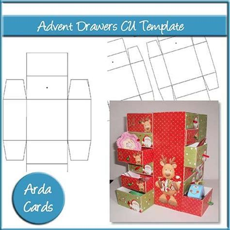 drawer card template printable cards papercraft downloads the printable
