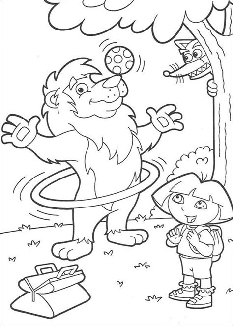 Free Printable Dora The Explorer Coloring Pages For Kids The Explorer Coloring Pages