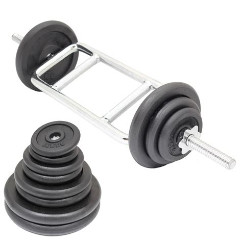 what is the weight of the bar in bench press tricep bicep 1 weight barbell bar cast iron weights set