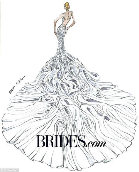 Kim Kardashian S Wedding Gown Imagined By Bridal Designers