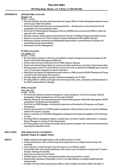 Cv Template For Pmo Analyst Images Certificate Design