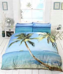 tropical island palm tree bedding duvet cover