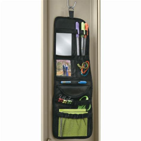 hanging locker pockets in locker organizers
