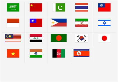 Guess Bendera asia bendera bendera permainan kuis peta