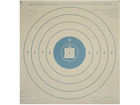 bench rest targets national target international bench rest shooters target