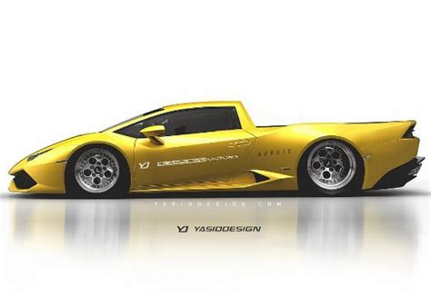 lamborghini pickup truck lamborghini huracan pickup truck rendered as a v10 nod to