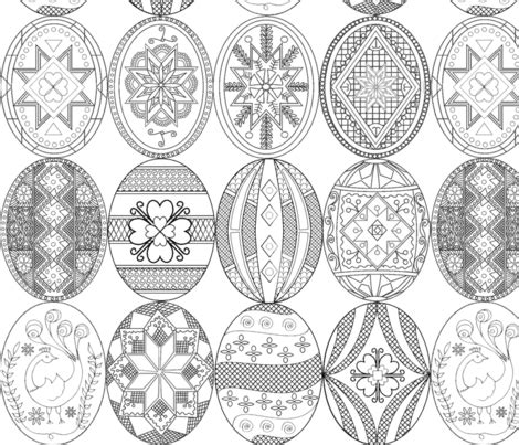pysanky designs coloring pages pysanky easter eggs larger version different designs