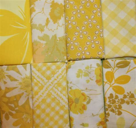 Printable Fabric Sheets Perth   vintage sheets scrap pack vintage the o jays and yellow