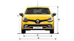 Renault Clio Dimensions Dimensions Nouvelle Clio R S V 233 Hicules Renault Sport