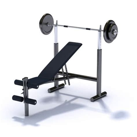 bench press seat gym equipment bench press with variable seat angle 3d model