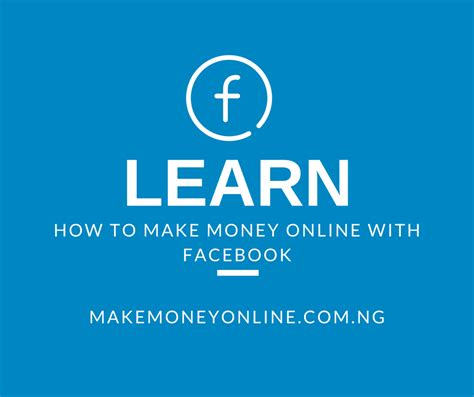 Make Money Online Using Facebook - best affiliate programs in nigeria for bloggers make money online