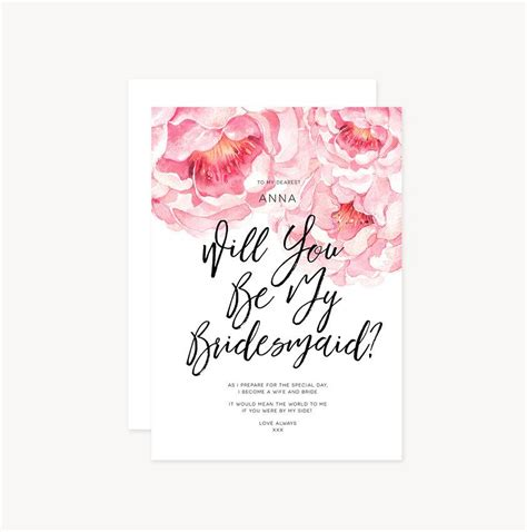 Handmade Will You Be My Bridesmaid Cards - personalised custom will you be my bridesmaid
