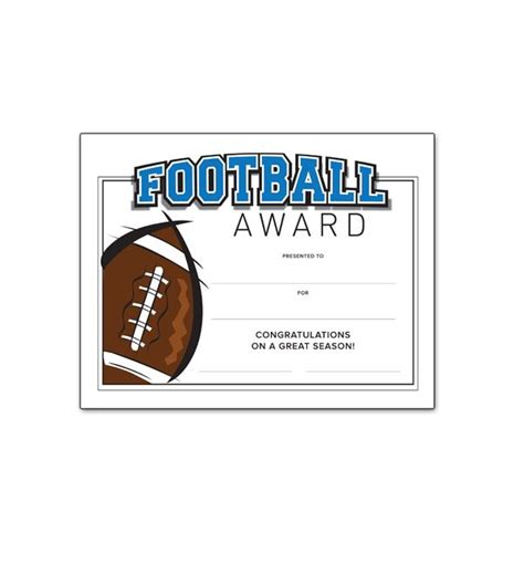 32 Best Awards Certificates Images On Pinterest Award Certificates Certificate Templates Soccer Award Template