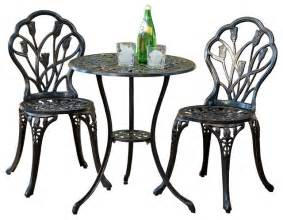 Aluminum Bistro Table And Chairs New Cast Aluminum Bistro Set Traditional Outdoor Pub And Bistro Sets By Great Deal