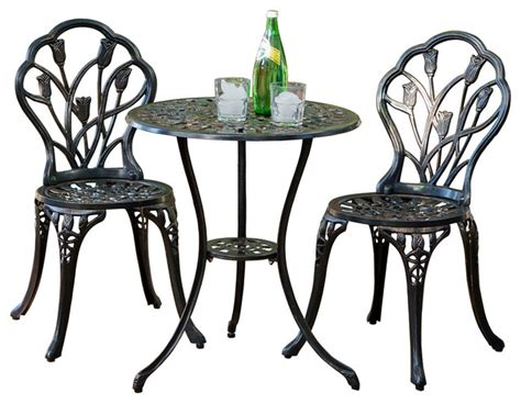 New England Cast Aluminum Bistro Set   Traditional
