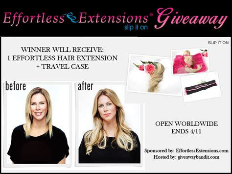 Hair Extensions Giveaway - effortless hair extensions giveaway the bandit lifestyle
