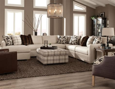 5 piece sectional sofa with chaise craftmaster 751100 five piece sectional with laf chaise