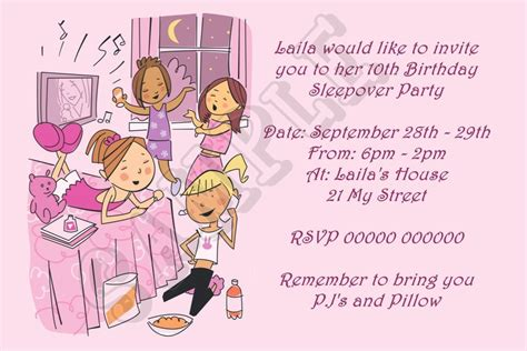 Free Printable Sleepover Invitations Awesome Free Printable Slumber Birthday Invitations