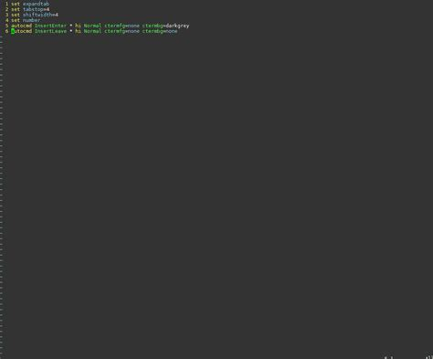 vim pattern not found m linux changing vim background color and not text color