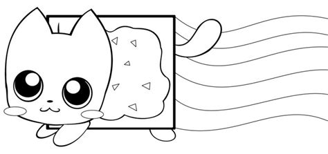kawaii cat coloring pages nyan cat coloring page coloring pages for kids