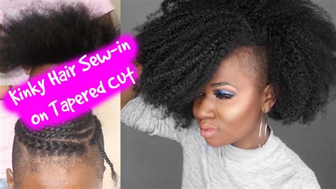 best gel for tapered relaxed hair watch me get a sew in on my tapered cut using big chop