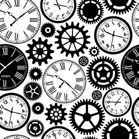 Muster Schwarz Weiß by Uhren Nahtlose Muster Schwarz Wei 223 Textur Der Zeit