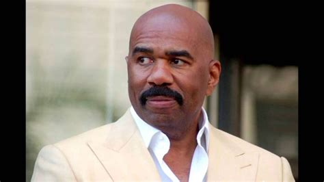 male actor with big mustache steve harvey bald african american host famous bald