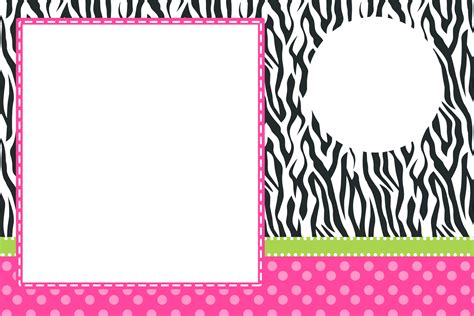 imagenes png para invitaciones cebra y rosa invitaciones para imprimir gratis oh my