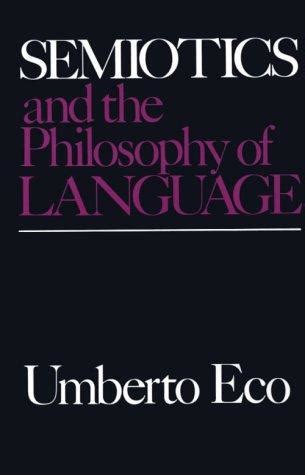 semiosis a novel books semiotics and the philosophy of language by umberto eco
