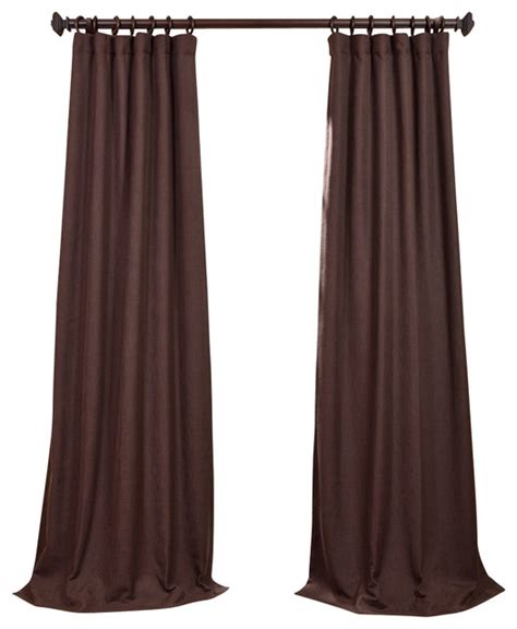 heavy linen curtains chestnut heavy faux linen curtain traditional curtains