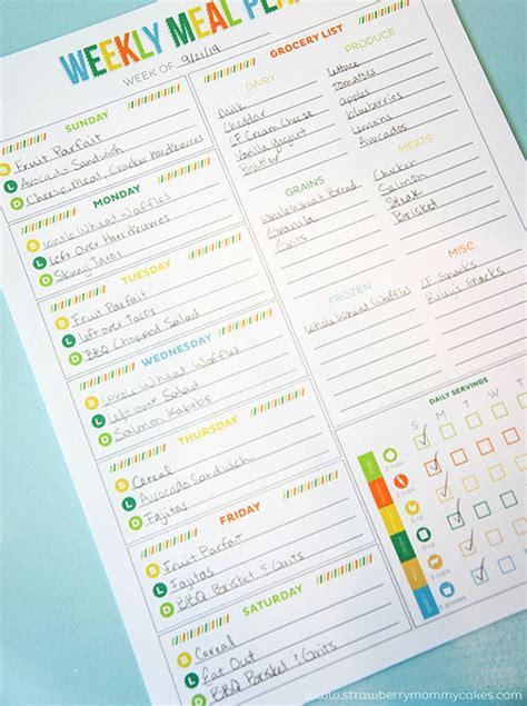 Printable Meal Planning Templates To Simplify Your Life Diet Planner Template