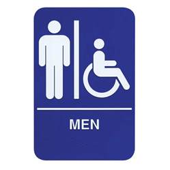 Mens Bathroom Sign Braille Men Restroom Sign