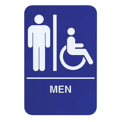 bathroom men sign braille men restroom sign
