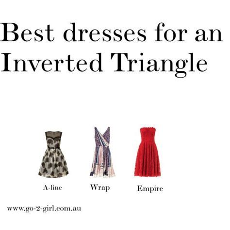 """""""Best dresses for an Inverted Triangle"""" by go 2 girl on"""