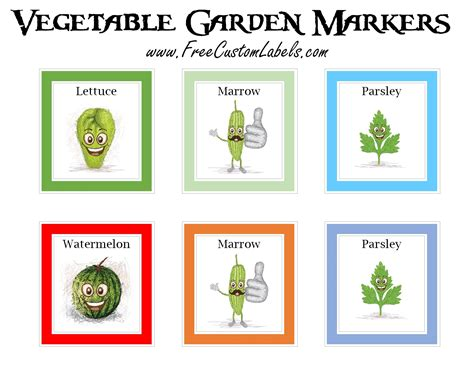 printable plant labels printable vegetable garden markers free instant download