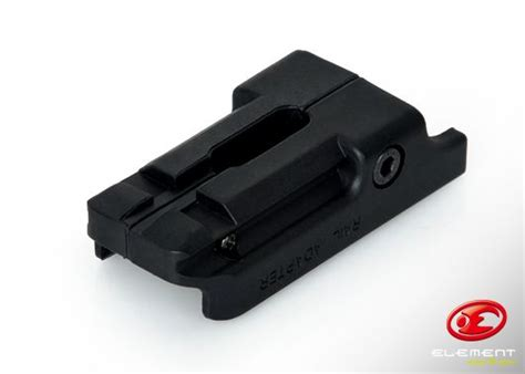 Element Rail Adapter Hk Usp 45 Tactical Pistol Laser Flashlight Mount element usp 45 rail mount bk pa0202 bk 8 00