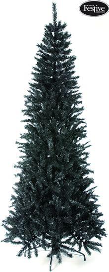 regency christmas trees jackson fir regency black slim fir 6 5ft tree 163 56 99 garden4less uk shop
