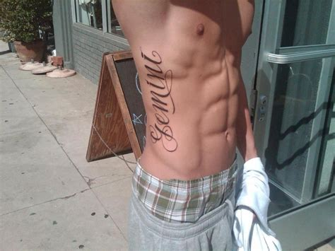 cool side tattoos for men do rib tattoos hurt what do you think