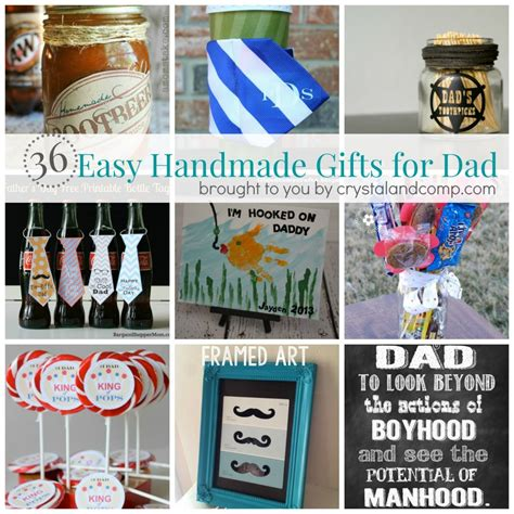 great xmas gifts for dad 36 easy handmade gift ideas for crystalandcomp