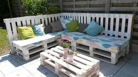 holzpaletten sofa diy paletten lounge garden