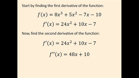 How Do You Find On Finding Inflection Points